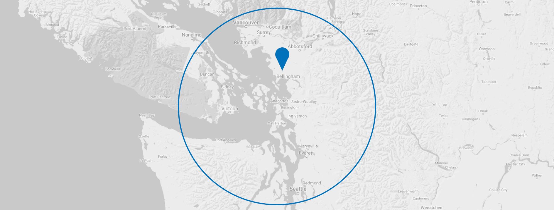 Ferndale Washington Map.Connect With Us Highcraft Cabinets Ferndale Wa